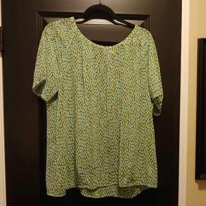 Cabi Short Sleeve Blouse - Size L